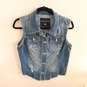 Maurices Jean Distressed Vest